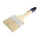 """Кисть плоская TUNDRA comfort, натуральная щетина, деревянная ручка 4"""" (100 мм)"""