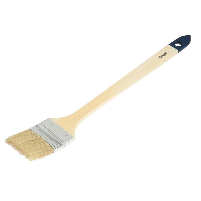 """Кисть радиаторная TUNDRA basic натуральная щетина, деревянная ручка 2,5"""" (63 мм)"""