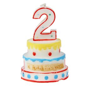 """Свеча-цифра в форме торта """"2"""""""