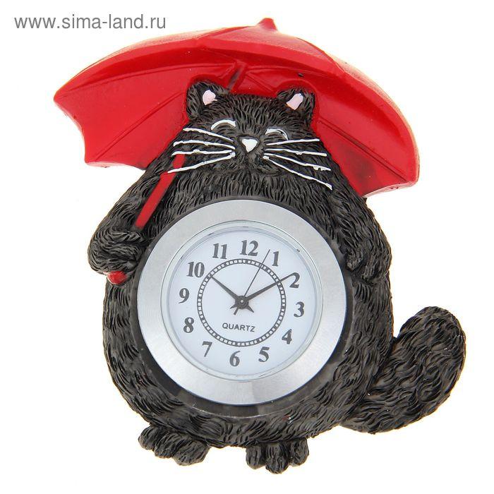 """Часы-магнит """"Котик"""""""