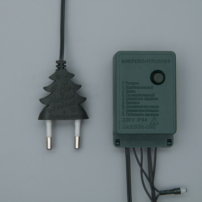 """Гирлянда """"Нить"""", 7 м, 180 ламп, 220V, 8 режимов, нить тёмная, свечение тёплое белое"""