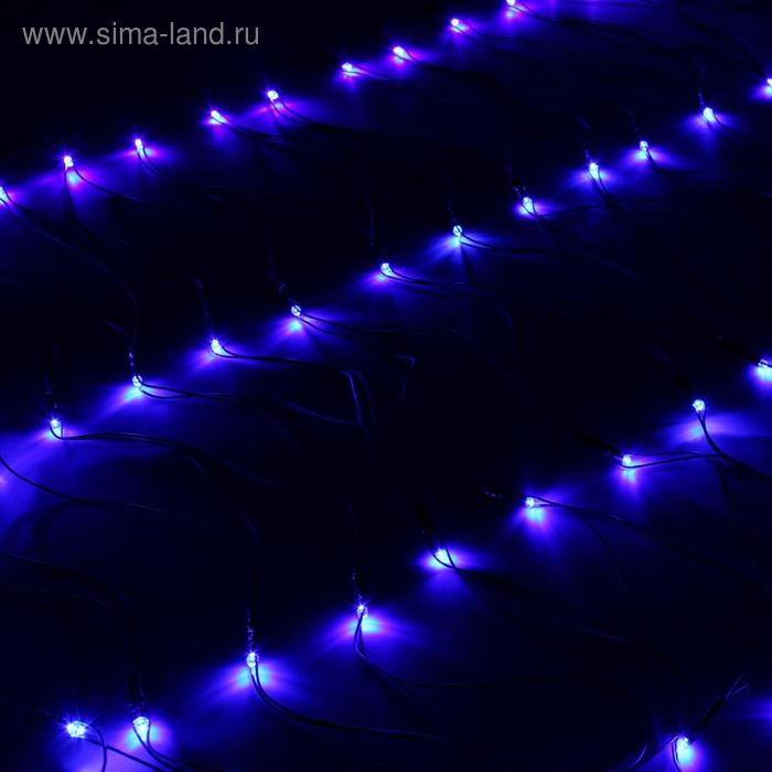 """""""Сетка"""" Ш:1 м, В:0,7 м, нить темная, LED-96-220V, контр. 8 р, СИНИЙ"""
