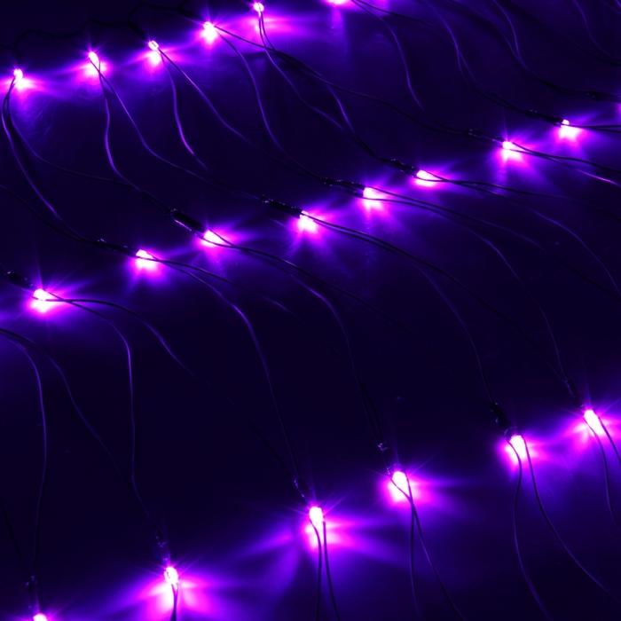 """Гирлянда """"Сетка"""" Ш:1 м, В:0,7 м, Н.Т. LED-96-220V, контр. 8 р, ФИОЛЕТ"""