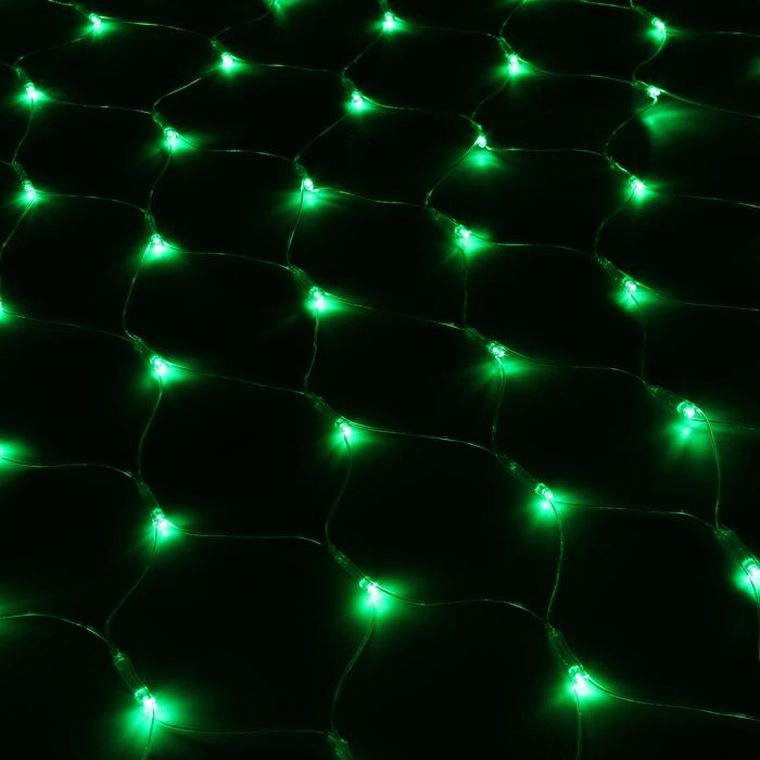 """Гирлянда """"Сетка"""" Ш:1 м, В:0,9 м, Н.С. LED-120-220V, контр. 8 р, ЗЕЛЕНЫЙ"""