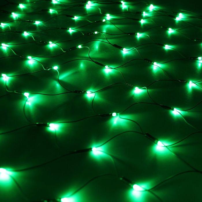 """Гирлянда """"Сетка"""" Ш:1 м, В:0,9 м, Н.Т. LED-120-220V, контр. 8 р, ЗЕЛЕНЫЙ"""