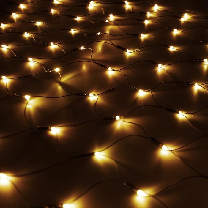 "Гирлянда ""Сетка"" Ш:1 м, В:0,9 м, Н.Т. LED-120-220V, контр. 8 р, ЖЕЛТЫЙ"