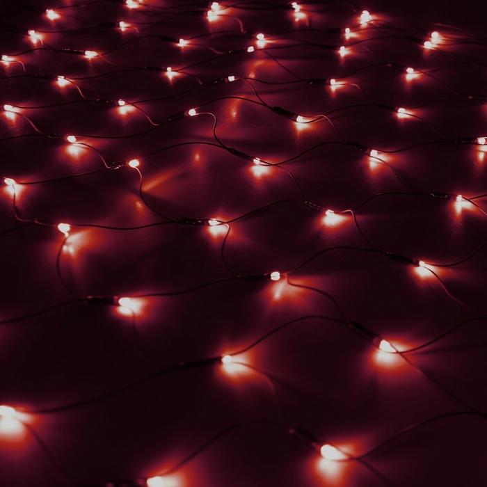 """Гирлянда """"Сетка"""" Ш:1 м, В:0,9 м, Н.Т. LED-120-220V, контр. 8 р, КРАСНЫЙ"""