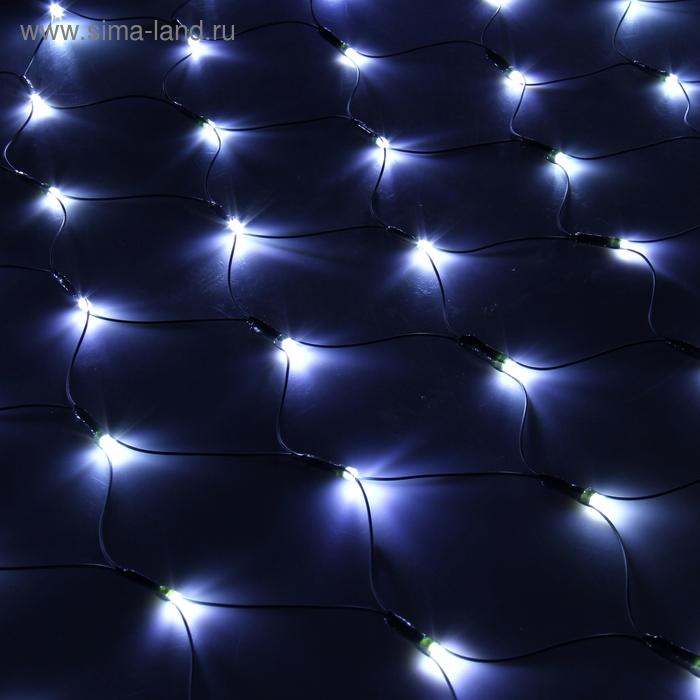 """""""Сетка"""" Ш:1,2 м, В:1,1 м, нить темная, LED-144-220V, контр. 8 р, БЕЛЫЙ"""