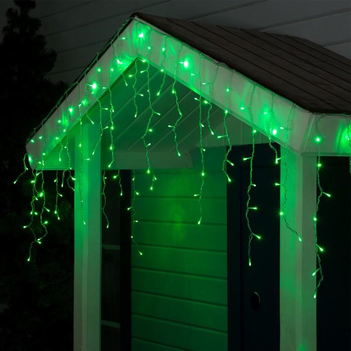 "Гирлянда ""Бахрома"" уличная, УМС, 3 х 0.6 м, 3W LED-160-220V, свечение зелёное"
