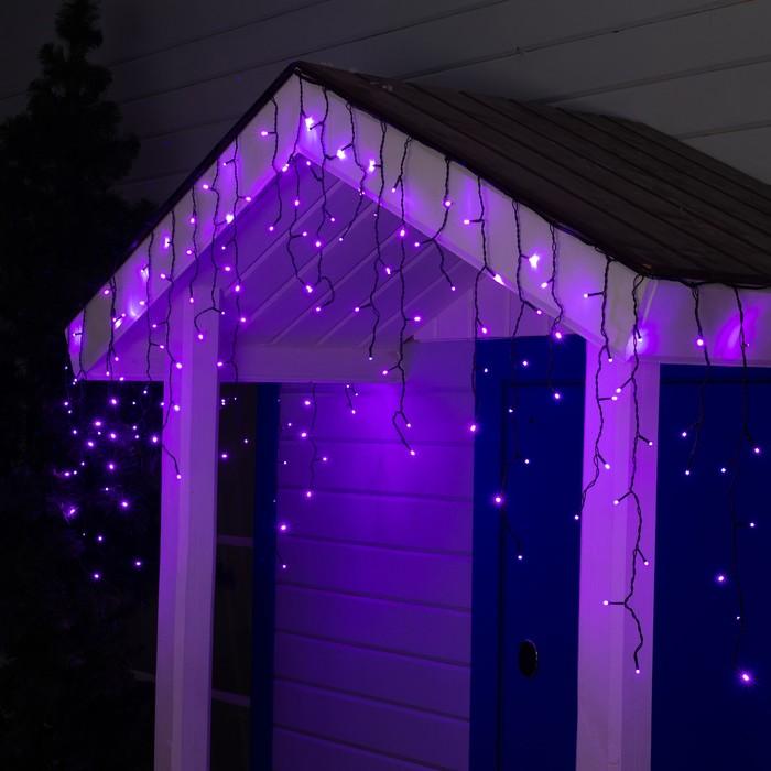 "Гирлянда ""Бахрома"" уличная, УМС, 3 х 0.6 м, 3W LED-160-220V, свечение фиолетовое"
