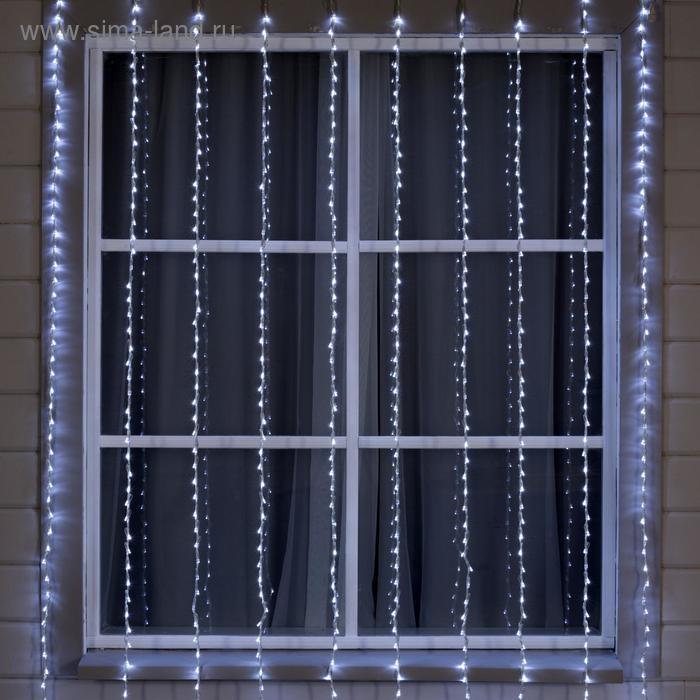 """Гирлянда """"Дождь"""" улич. УМС, Д: 2 м, В: 3 м, нить силикон, LED-800-240V, БЕЗ контр. БЕЛЫЙ"""