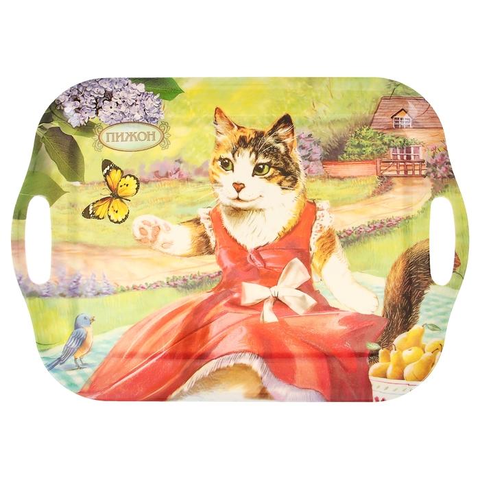 """Поднос серия """"Трехцветная кошка"""""""