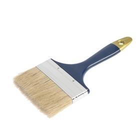 "The TUNDRA basic flat brush, natural bristle, plastic handle 4"" (100mm)"