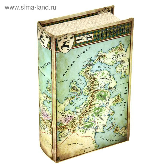 "Сейф-книга шёлк ""Карта государства"""