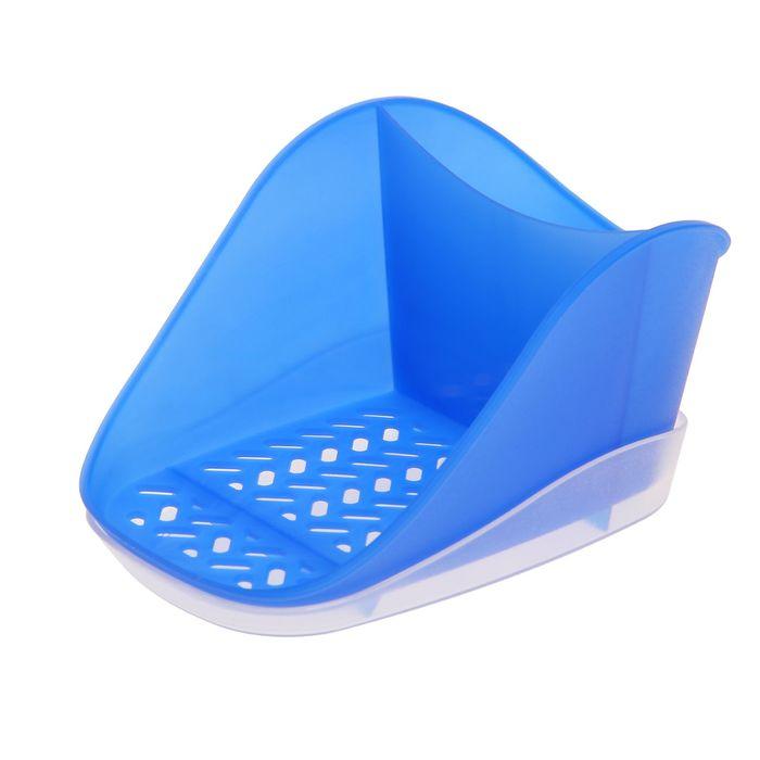 Подставка для моющего средства и губки Teo Plus, цвет синий