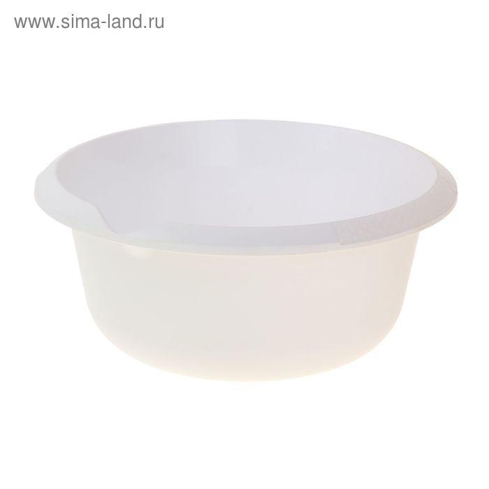 Миска 5 л, цвет снежно-белый