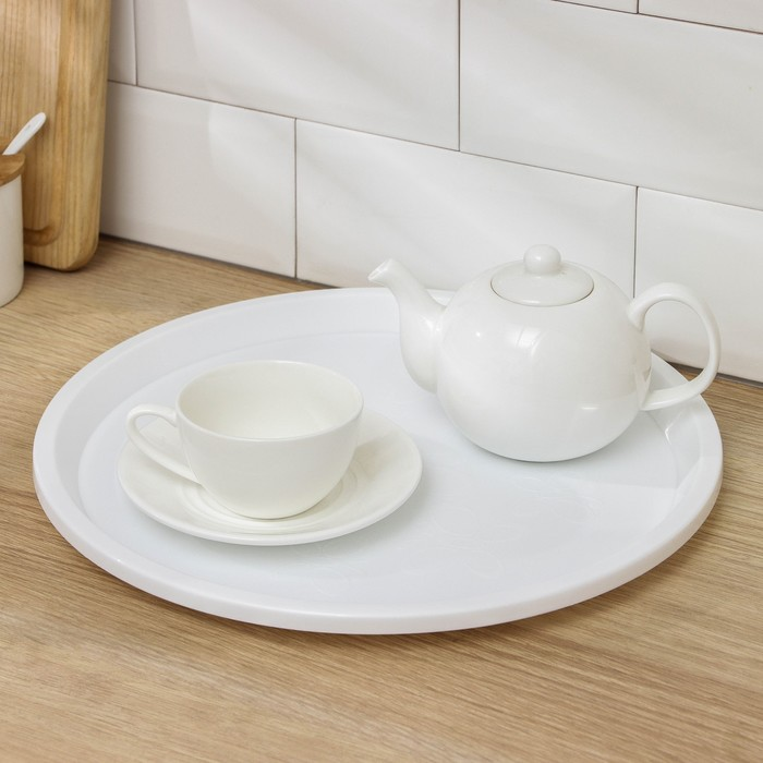 Поднос 33 см Arrivo, цвет снежно-белый