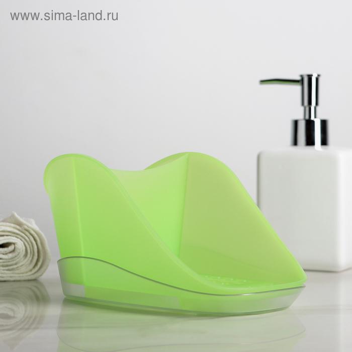 Подставка для моющего средства и губки Teo Plus, цвет киви