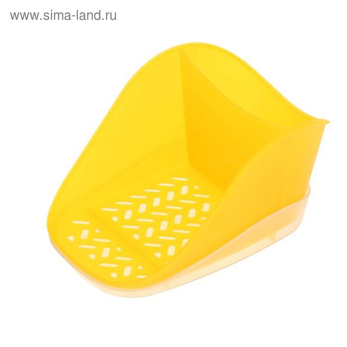 Подставка для моющего средства и губки Teo Plus, цвет лимонный