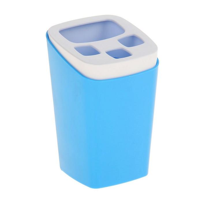 "Подставка для зубных щёток ""Breeze"", цвет голубая лагуна"