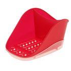 Подставка для моющего средства и губки Teo Plus, цвет красный