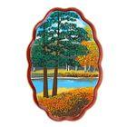 "Картина ""Осень"" Фанера овальная малая №1-1 12,5х18,5х2 см ,МИКС 151101 каменная крошка"