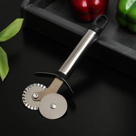 Нож для пиццы и теста Доляна «Помощник», 18 см, двойной