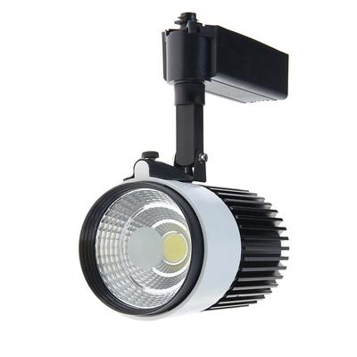 Трековый светильник LED, 30 W, 2400 Lm, 6400 K, холодный свет, SL-3002WB, корпус БЕЛО-ЧЕРНЫЙ
