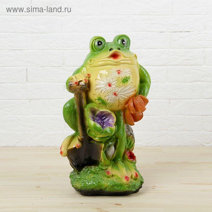 """Садовая фигура """"Лягушка с лопатой"""""""