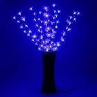 """Светодиодная ваза 80х16 см, """"Цветок сакуры"""" 72 LED, 220V, фиксин, СИНИЙ"""