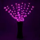 """Светодиодная ваза 80х16 см, """"Цветок сакуры"""" 72 LED, 220V, фиксин, ФИОЛЕТ"""