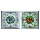 """Часы настенные, серия: Цветы,  """"Цветная паутина"""", 37х37х3 см, микс"""