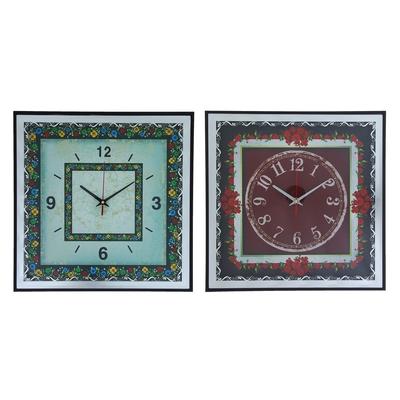"""Часы настенные, серия: Классика, """"Цветочный орнамент"""", 37х37х3 см, микс"""