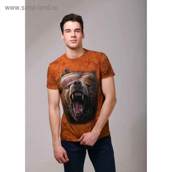 Футболка мужская Collorista 3D Wild Bear, размер S (44), цвет коричневый