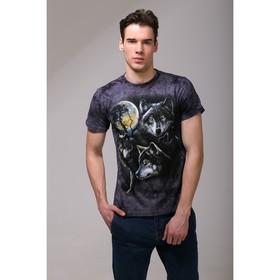 Футболка мужская Collorista 3D Wolfs Moon, размер S (44), цвет серый