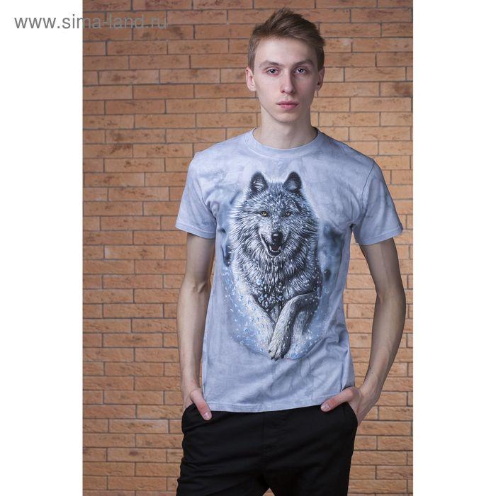 Футболка мужская Collorista 3D Snow Wolf, размер S (44), цвет серый