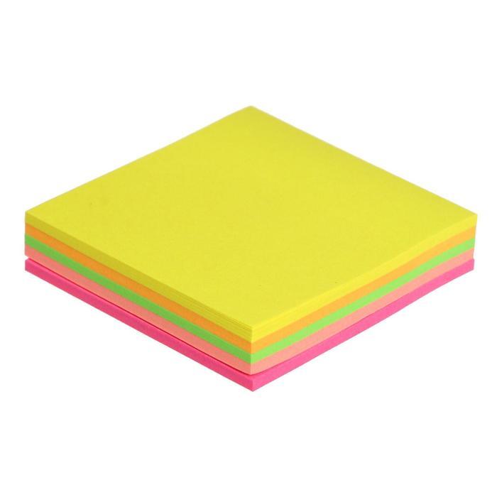 Блок с липким краем 51мм*51мм 100л-5цв флуор МИКС