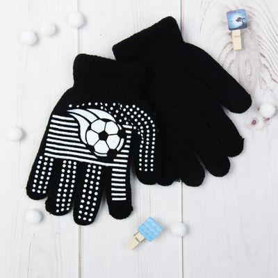 """Перчатки детские """"Футбол"""", размер 18, цвет чёрный 65483"""