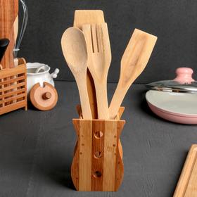 {{photo.Alt || photo.Description || 'Набор кухонных принадлежностей «Бамбук», 4 предмета, на подставке'}}