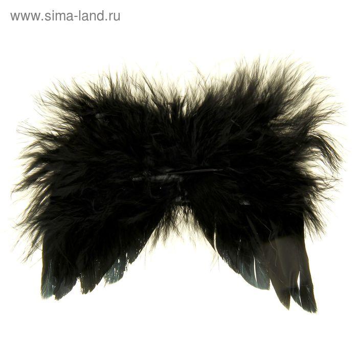 Крылышки декоративные с перьями, чёрные