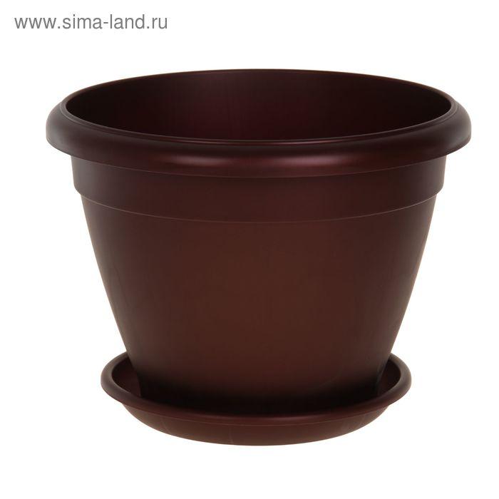 Горшок для цветов Le Jardin, d=45 см, цвет бордовый бронзовый