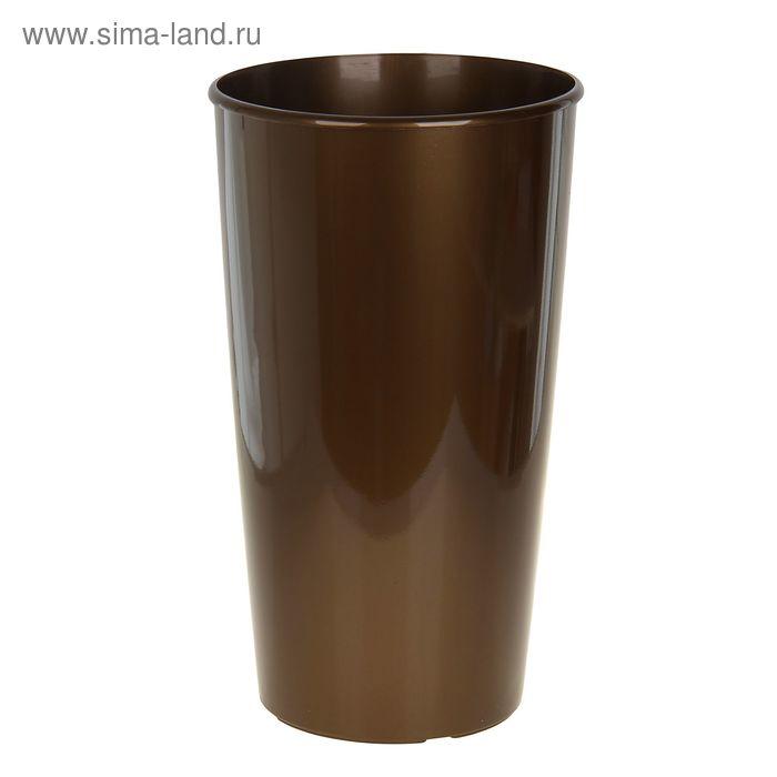 Горшок для цветов Le cone 41(18) л, цвет коричневый лаковый