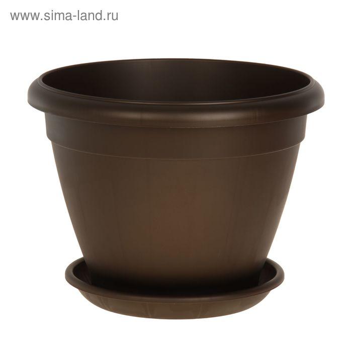 Горшок для цветов Le Jardin, d=45 см, цвет коричневый бронзовый