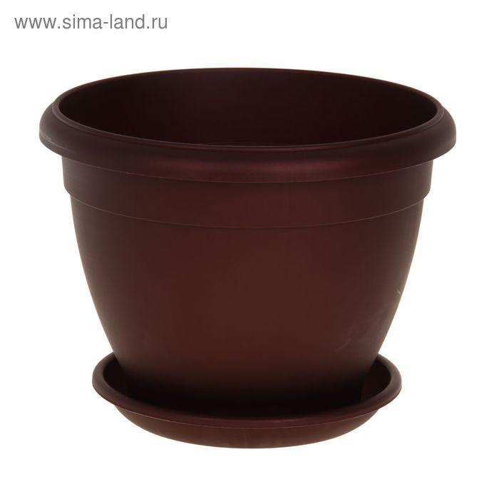 Горшок для цветов Le Jardin, d=35 см, цвет бронзовый бордовый