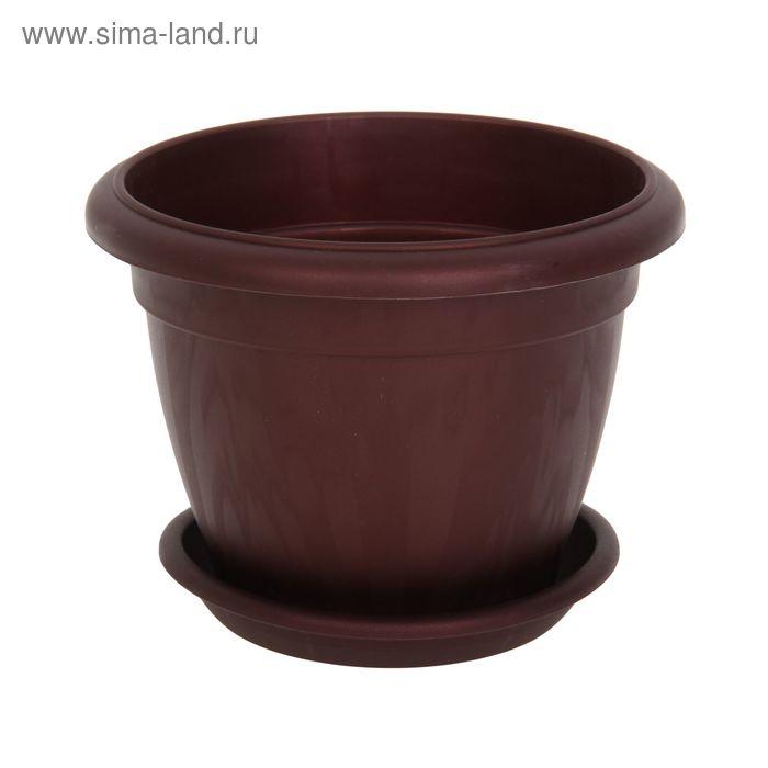 Горшок для цветов Le Jardin, d=20 см, бордовый бронзовый