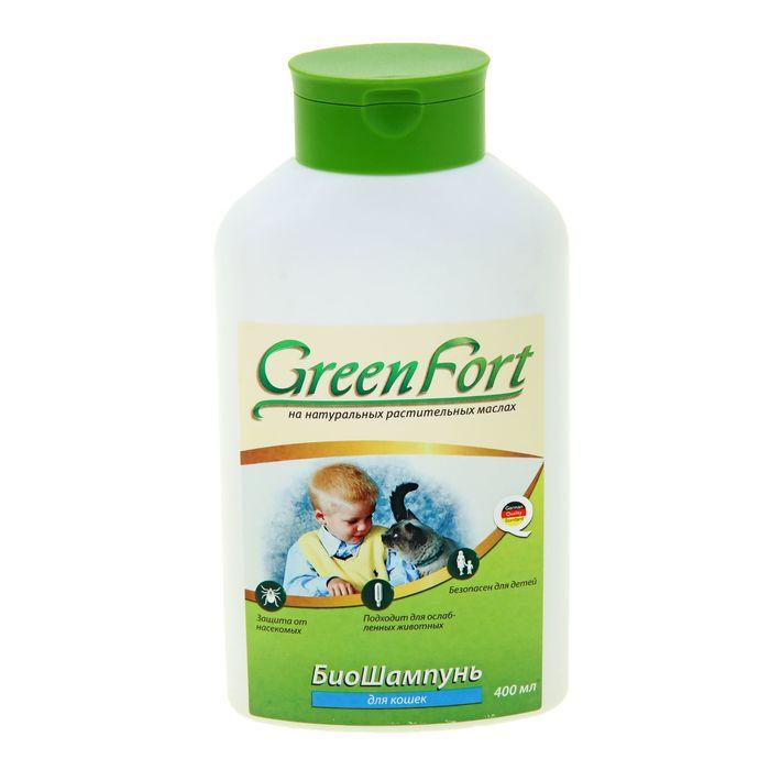 Биошампунь GreenFort от блох для кошек, 400 мл