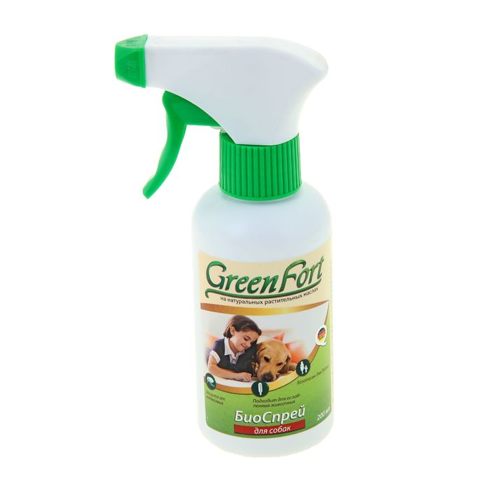 Биоспрей GreenFort от блох для собак, 200 мл