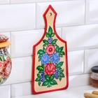 Доска разделочная «Цветы», городецкая роспись