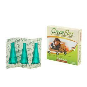 Биокапли GreenFort от блох для крупных собак 3 х 2,5 мл Ош
