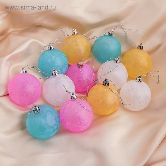 """Новогодние шары """"Туман"""" (ассорти, набор 12 шт.)"""